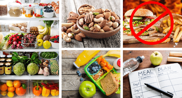 nuts, apples, vegetables, artichokes, and other healthy foods