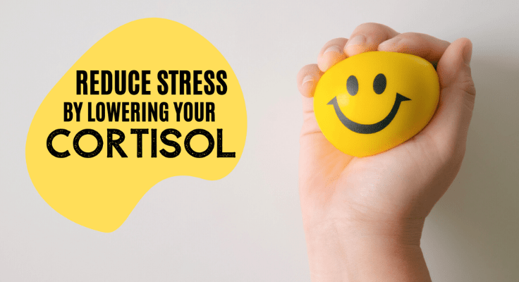 reduce stress by lowering your cortisol sign