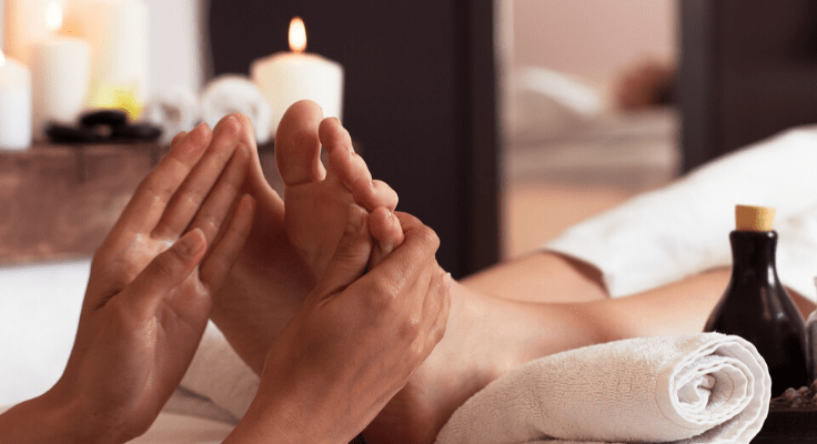 foot massage for biohacking stress