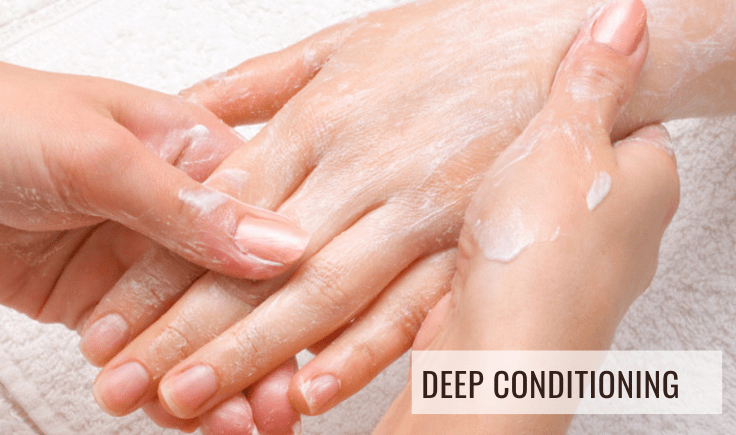 deep conditioning to make your hands look wrinkle free