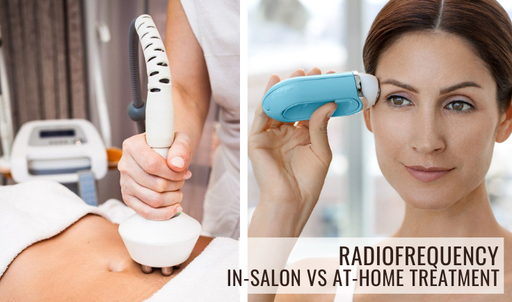 radiofrequency in-salon vs at-home treatment