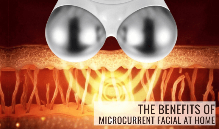the benefits of microcurrent facial at home