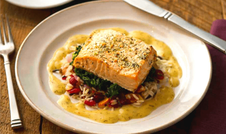 Grilled Salmon with Lemon Dijon Dressing by BistroMD