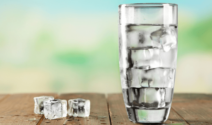 drink ice water