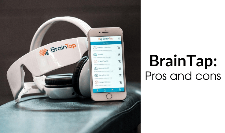 braintap headset and a phone